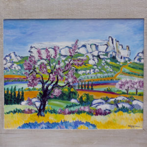 "Les Baux en Provence Olieverf op linnen - 40 x 50 cm Foto door <a href=""http://peetography.nl"" target=""_blank"">Peetography.nl</a>"