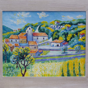 "Buoux en Provence Olieverf op linnen - 40 x 50 cm Foto door <a href=""http://peetography.nl"" target=""_blank"">Peetography.nl</a>"