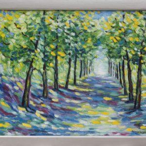 "Boslaantje Olieverf op linnen - 40 x 50 cm Foto door <a href=""http://peetography.nl"" target=""_blank"">Peetography.nl</a>"
