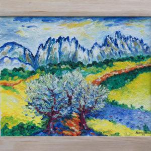 """des Dentelles de Montmirail Olieverf op linnen - 34 x 42 cm Foto door <a href=""""http://peetography.nl"""" target=""""_blank"""">Peetography.nl</a>"""