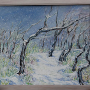 "Sneeuw Domburg Olieverf op linnen - 60 x 80 cm Foto door <a href=""http://peetography.nl"" target=""_blank"">Peetography.nl</a>"