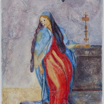 "Maria boodschap van Pontormo in Santa Felicita Florence Fresco - ?? x ?? cm Foto door <a href=""http://peetography.nl"" target=""_blank"">Peetography.nl</a>"