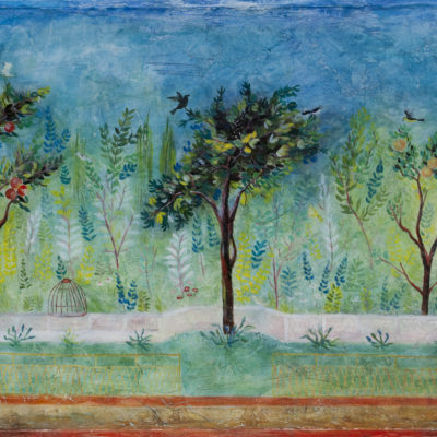 "Muurschildering en tuin uit Pompeï Fresco - ?? x ?? cm Foto door <a href=""http://peetography.nl"" target=""_blank"">Peetography.nl</a>"