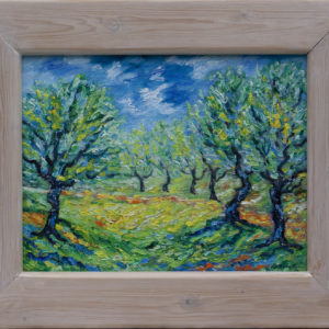 "Olijfbos Provence Olieverf op linnen - 24 x 35 cm Foto door <a href=""http://peetography.nl"" target=""_blank"">Peetography.nl</a>"