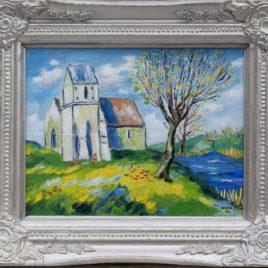 Kerkje Qriqueboeuf Normandië