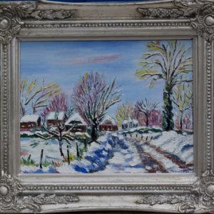 """Sneeuwgezichtje 1 Olieverf op linnen - 18 x 24 cm Foto door <a href=""""http://peetography.nl"""" target=""""_blank"""">Peetography.nl</a>"""