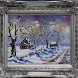 """Sneeuwgezichtje 2 Olieverf op linnen - 18 x 24 cm Foto door <a href=""""http://peetography.nl"""" target=""""_blank"""">Peetography.nl</a>"""