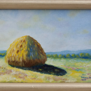 "Hooiberg in de zomer Olieverf op linnen - 13 x 18 cm Foto door <a href=""http://peetography.nl"" target=""_blank"">Peetography.nl</a>"