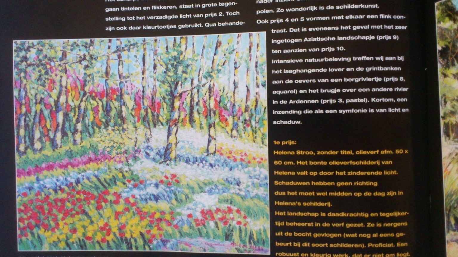 Artikel eerste prijs schilderscompetitie Palet