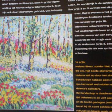 Eerste prijs schilderscompetitie Palet voor Helena