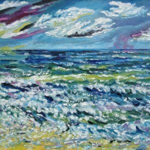 Atlantische oceaan Olieverf op linnen - 70 x 100