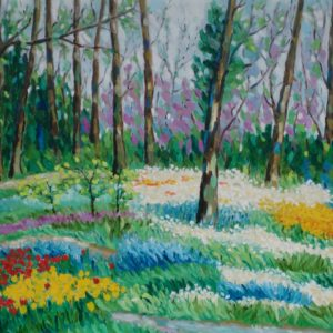 Eindelijk lente Olieverf op linnen 80 x 100 cm