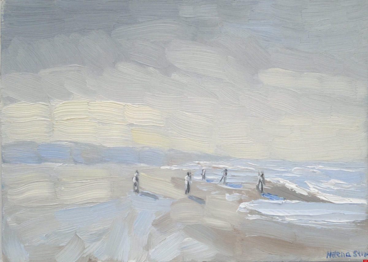 Zon breekt door op strand van Walcheren