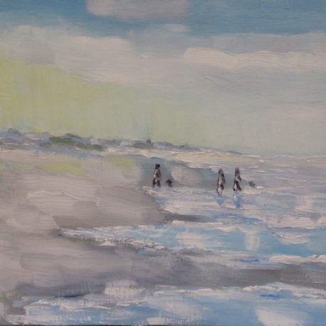 Zeeuws strand, opkomende vloed