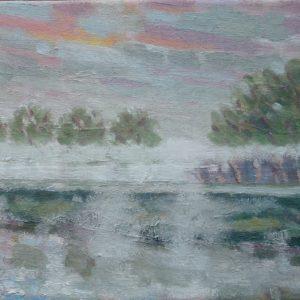 Mist Olieverf op linnen - 24 x 30 cm