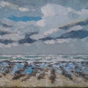 Baie d'Audierne plage de Tronoan 2 Olieverf op linnen - 24 x 30 cm
