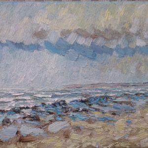 Baie d'Audierne plage de Tronoan Olieverf op linnen - 24x30 cm