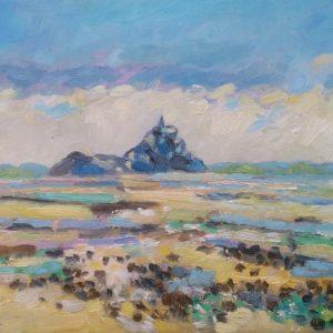 Mont Saint Michel Olieverf op linnen - 24 x 33 cm