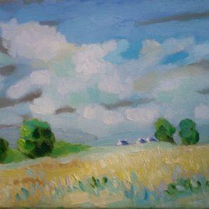 Landschap Finistere Olieverf op linnen - 24 x 30 cm