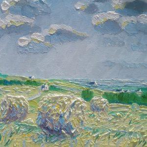 Hooien Finistere Bretagne 2 Olieverf op linnen - 22 x 27 cm