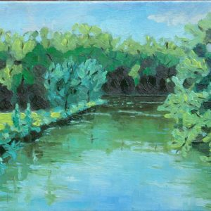 Kreek bij Veere september Olieverf op linnen - 30 x 40 cm