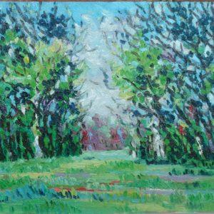 Walcheren dichtbij huis Olieverf op linnen - 20 x 24 cm