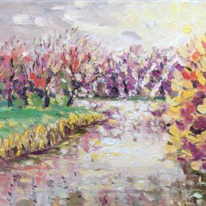 Herfst in Veerse bos Olieverf op linnen - 24 x 30 cm