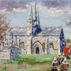 Notre-Dame-de-Tronoën St-Jean Trolimon Olieverf op linnen - 30 x 40 cm