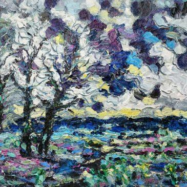 Drie bomen landschap Walcheren