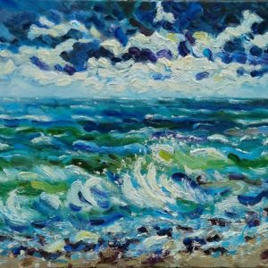 Noordzee Olieverf op linnen - 60 x 100 cm