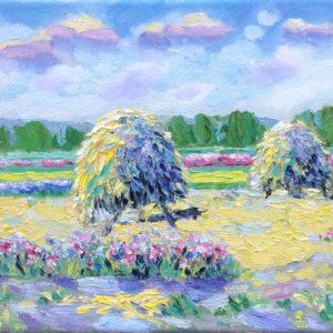 Ruiters met bloemen Giglia tricolor Walcheren Olieverf op linnen - 24 x 30 cm