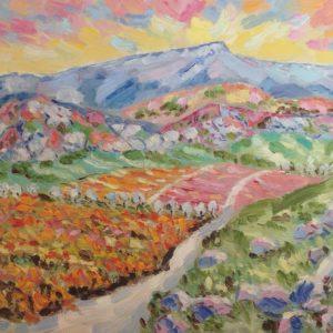 Herfst nabij de Ste Baume Provence Olieverf op paneel - 24 x 30 cm
