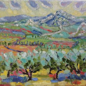 Massief Ste Baume Provence Olieverf op linnen - 24 x 30 cm