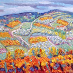 Mirabel-aux-Baronnies Drôme Provencale Olieverf op linnen - 24 x 33 cm