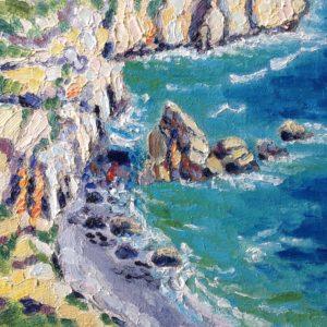 Pointe de Feunteun Aod Finistere Bretagne Olieverf op paneel - 24 x 30 cm