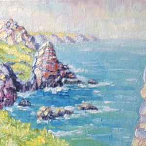 Pointe du Van Finistere Bretagne Olieverf op paneel - 24 x 30 cm
