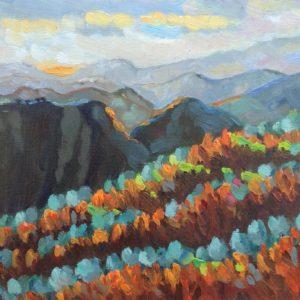 Ligurische Alpen late namiddag Olieverf op paneel - 24 x 30 cm