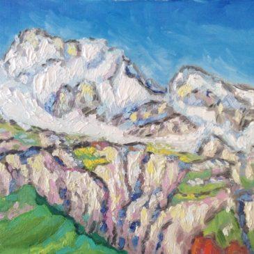 Ligurische Alpen besneeuwde Monte Toraggio