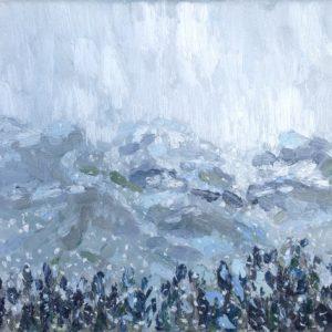 Ligurische Alpen sneeuw Olieverf op linnen - 24 x 30 cm