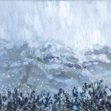 Ligurische Alpen sneeuw