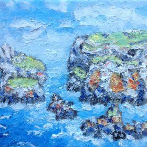 Pointe du Van Finistere Olieverf op linnen - 24 x 30 cm