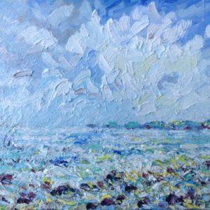 Baie d'Audierne zomerlicht I Olieverf op paneel - 24 x 30 cm