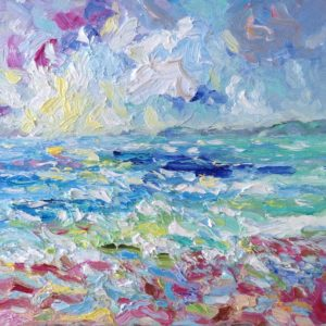 Baie d'Audierne zomerlicht II Olieverf op paneel - 24 x 30 cm