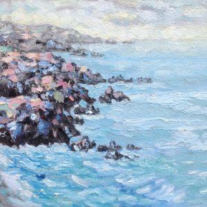 Pointe du Van Bretagne Olieverf op paneel - 24 x 30 cm