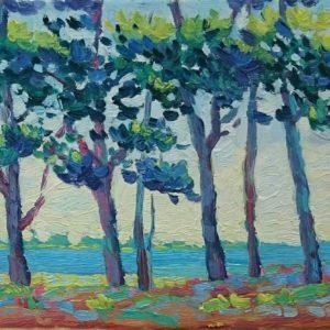 Île Tudy Olieverf op linnen - 24 x 30 cm