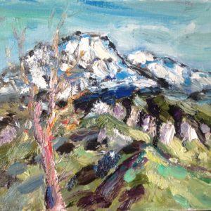 Monte Toraggio Ligurische Alpen Olieverf op linnen- 24 X 30 cm