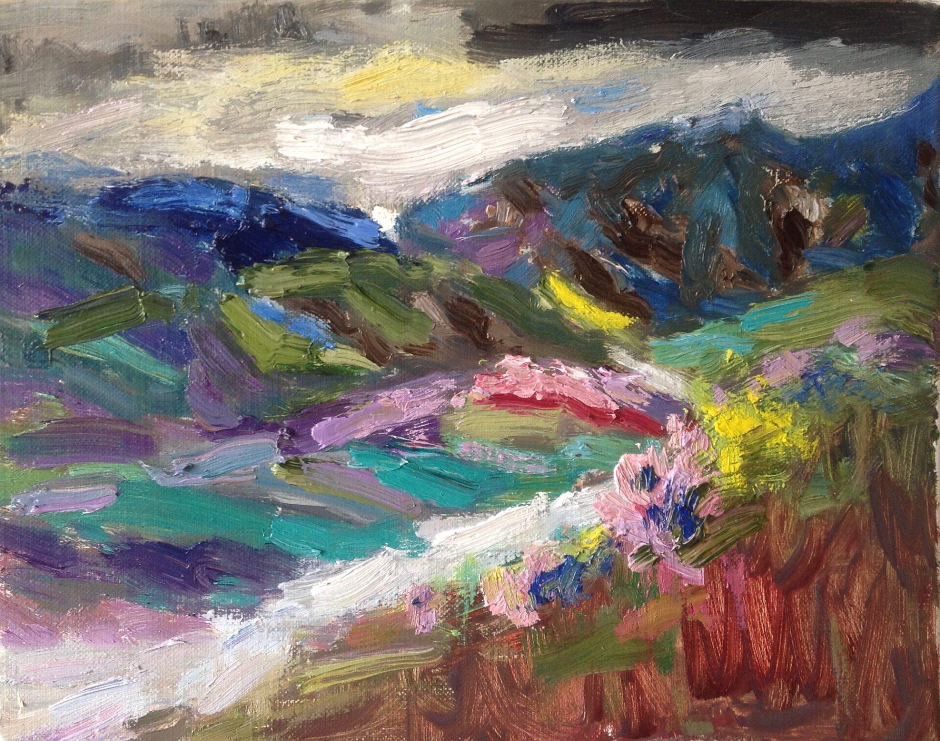 Uitzicht Dolceaqua Ligurië