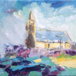 Penmarch Notre Dame de la Joie Bretagne Olieverf op linnen - 23 x 30 cm