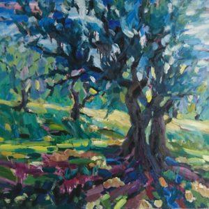 Olivier Provence Olieverf op linnen - 80 x 100 cm