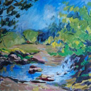 Vallée des peintres Carolles Normandie Olieverf op linnen - 81 x 100 cm